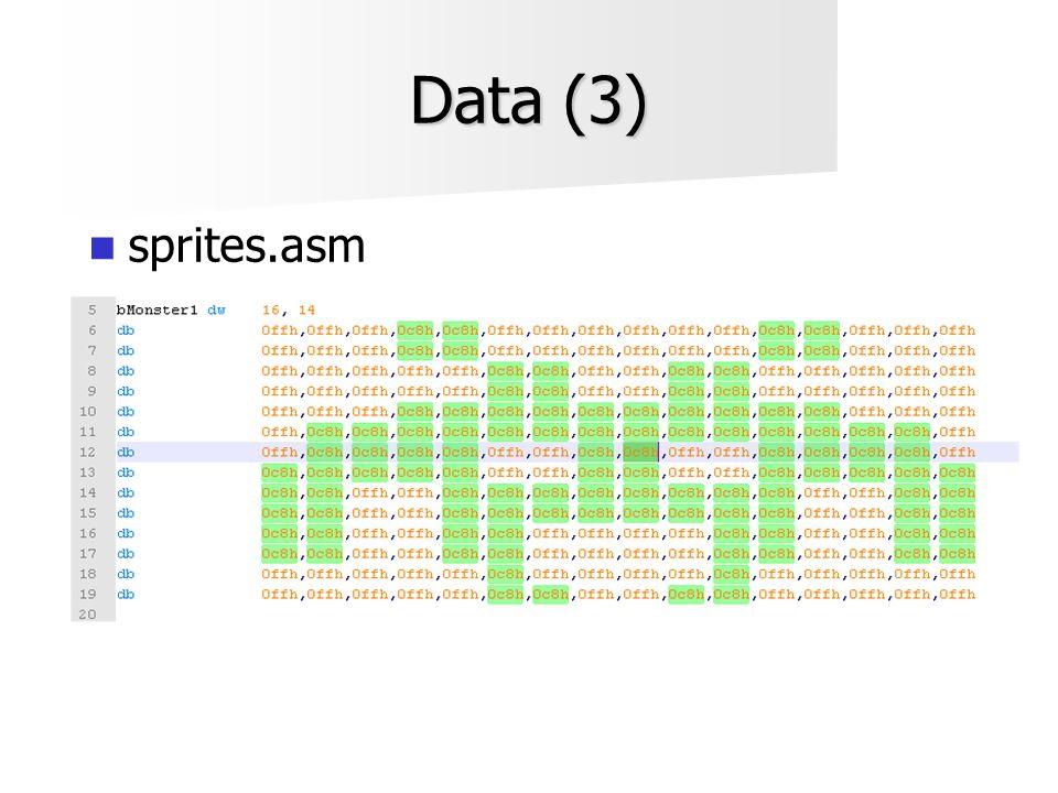 Data (3)  sprites.asm