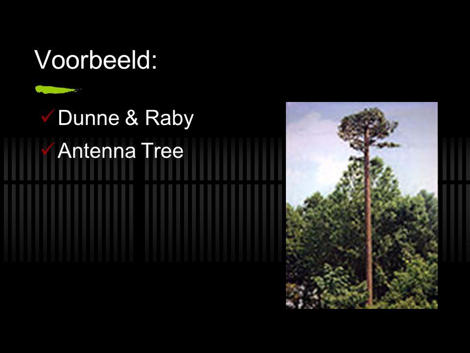 Voorbeeld:  Dunne & Raby  Antenna Tree