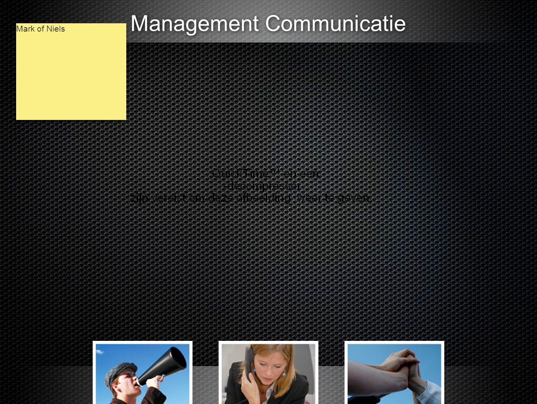 Management Communicatie Mark of Niels