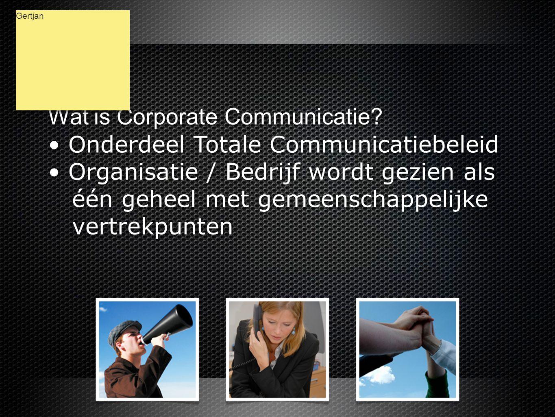Wat is Corporate Communicatie.