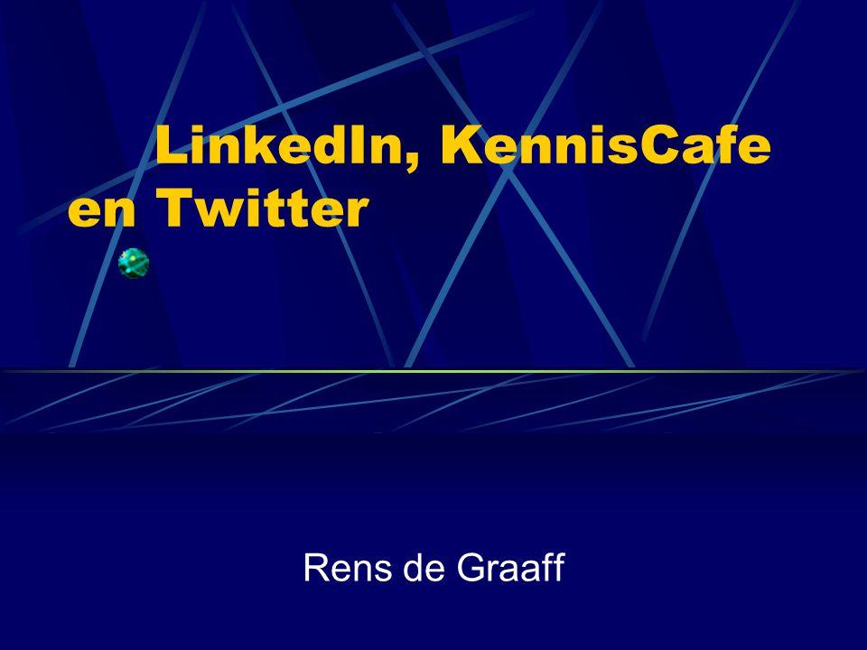 Inhoud LinkedIn  Algemene Info  Demo Video  Print Screen  Voordelen binnen de IC KennisCafe  Algemene Info  Print Screen  Voordelen binnen de IC Twitter  Algemene Info  Print Screen  Voordelen binnen de IC