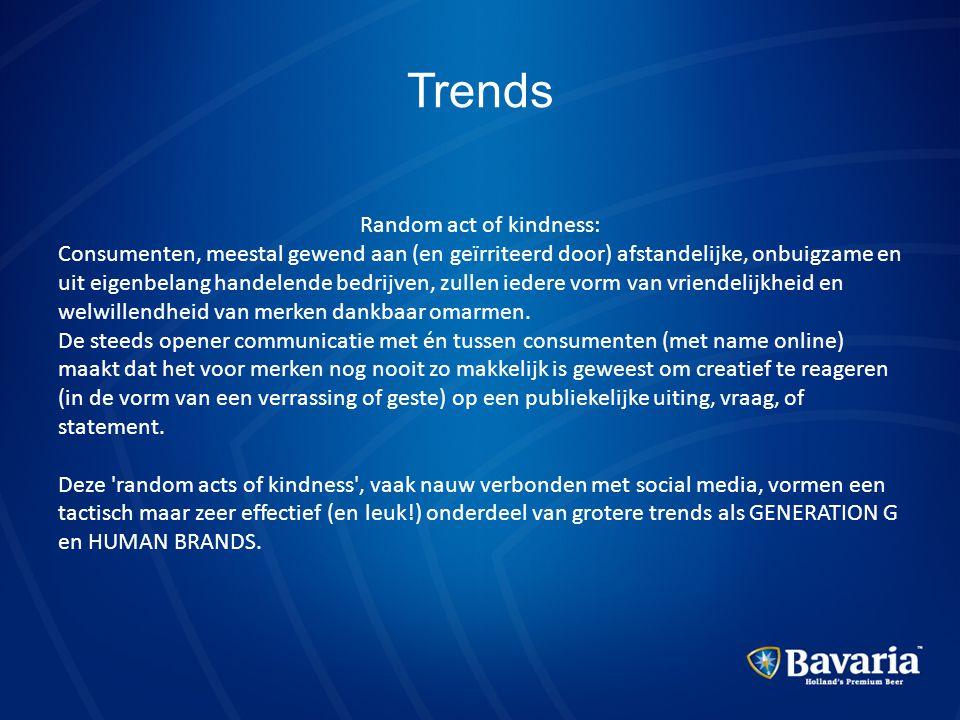 Trends Random act of kindness: Consumenten, meestal gewend aan (en geïrriteerd door) afstandelijke, onbuigzame en uit eigenbelang handelende bedrijven