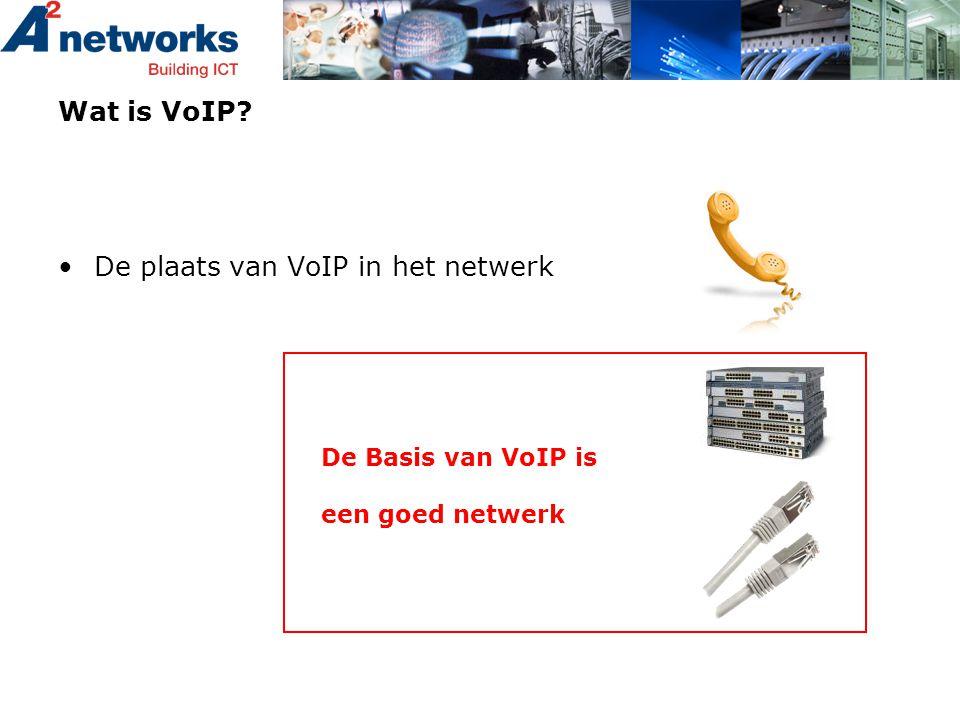 Wat is VoIP? •De plaats van VoIP in het netwerk De Basis van VoIP is een goed netwerk