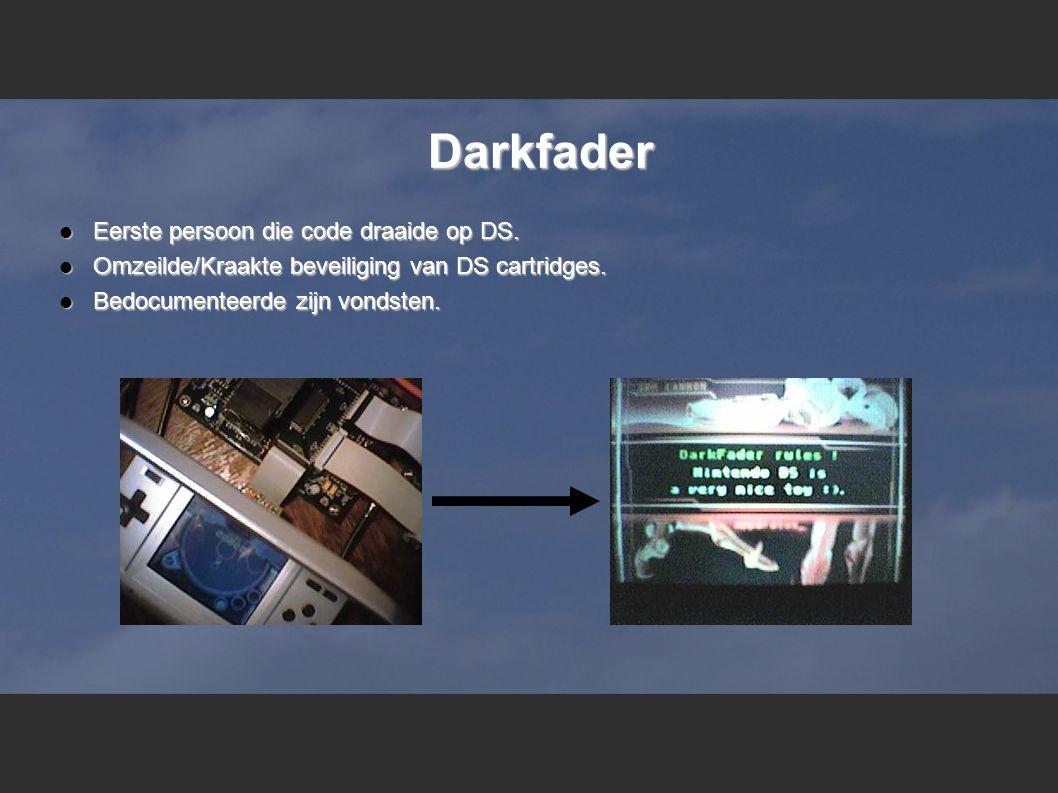 Darkfader  Eerste persoon die code draaide op DS.