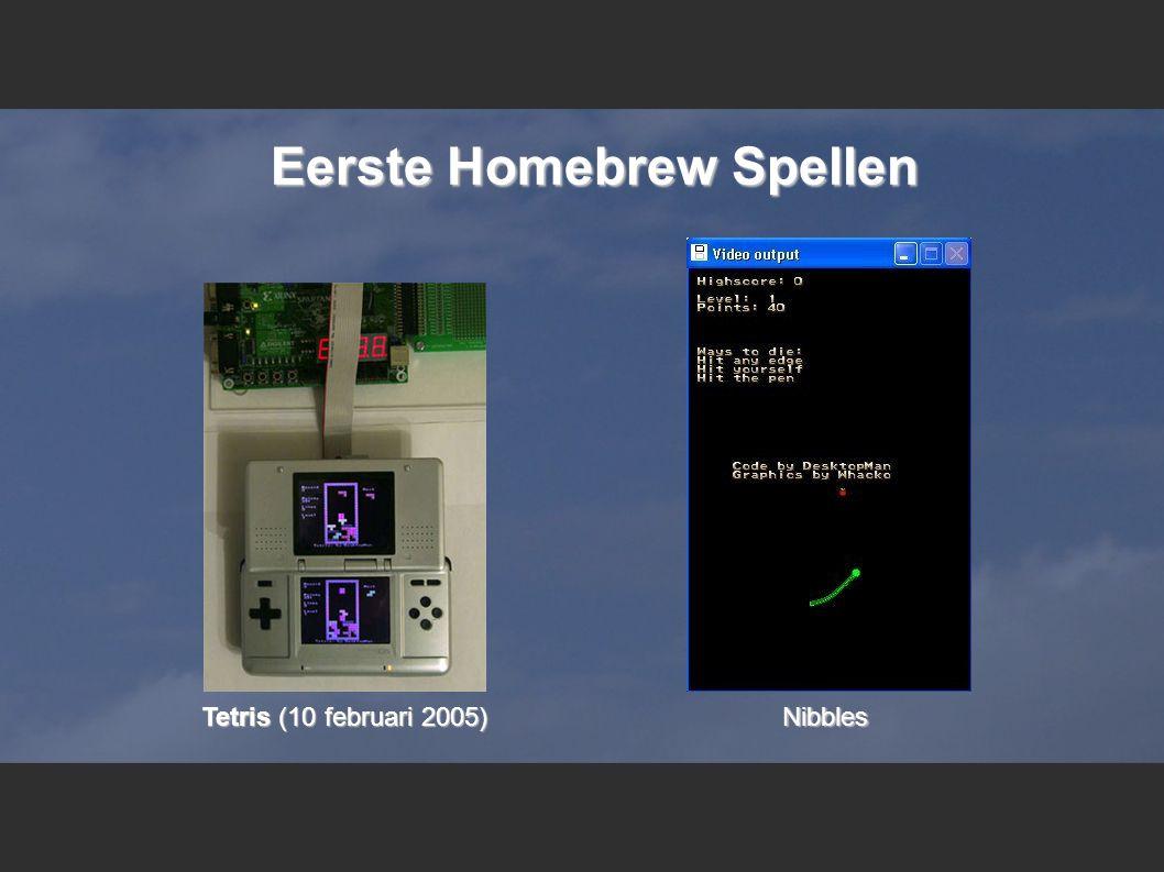Eerste Homebrew Spellen Tetris (10 februari 2005) Nibbles