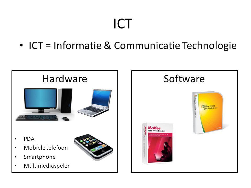 Onderdelen • CD = Compact Disc • DVD = Digital Video Disc • Vaste schijf (Hard disc) • CVE = Centrale Verwerkings Eenheid (microprocessor/CPU) • Moederbord • Werkgeheugen