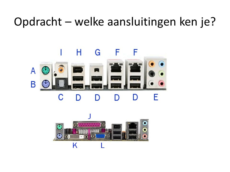 Internet • Elke machine heeft een nummer: IP-nummer (de postcode van de machine) • De server-programma's op die machine hebben ieder een eigen poort waar de berichten binnenkomen.