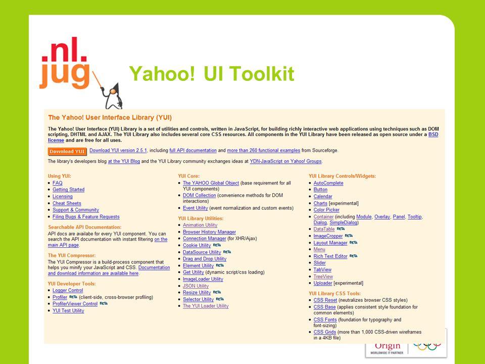 Yahoo! UI Toolkit