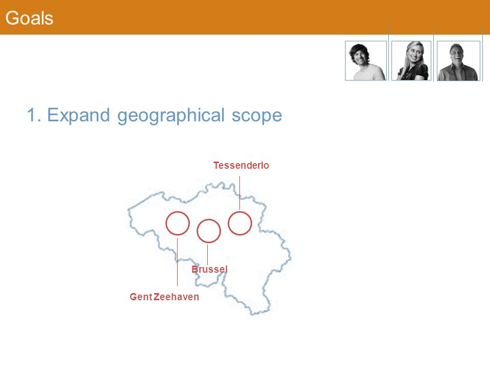 1. Expand geographical scope Gent Zeehaven Brussel Tessenderlo