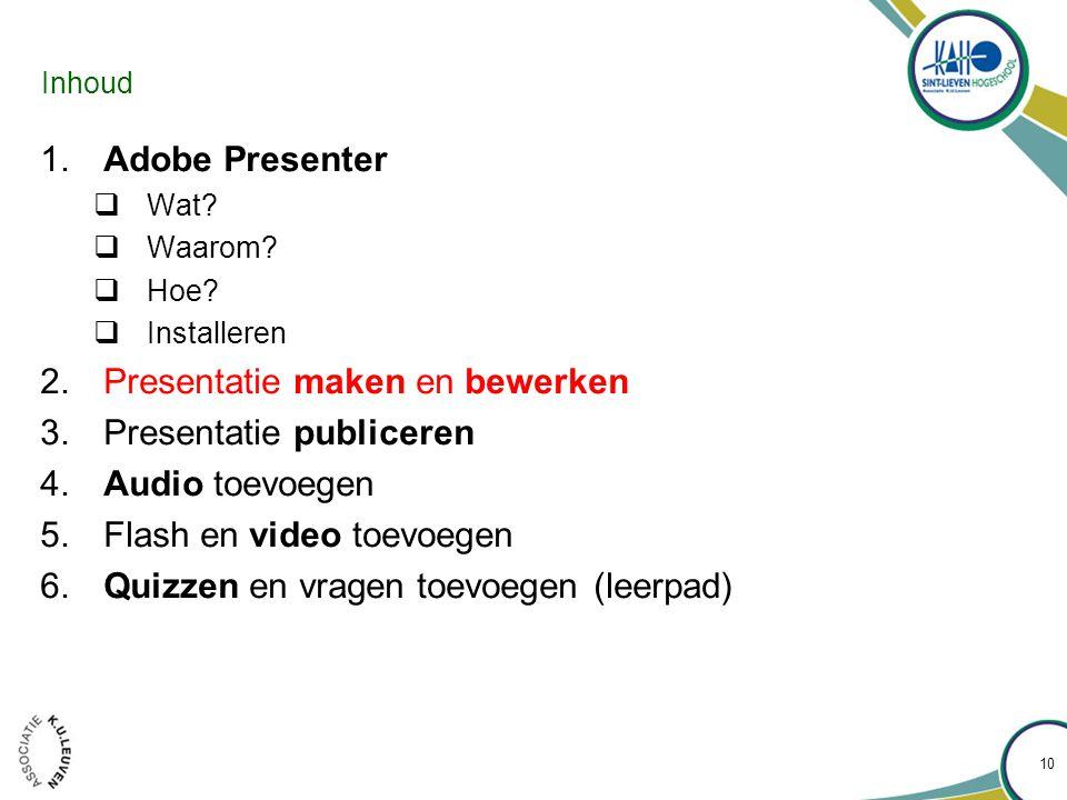 Presentatie maken en bewerken •Start een blanco presentatie op 11
