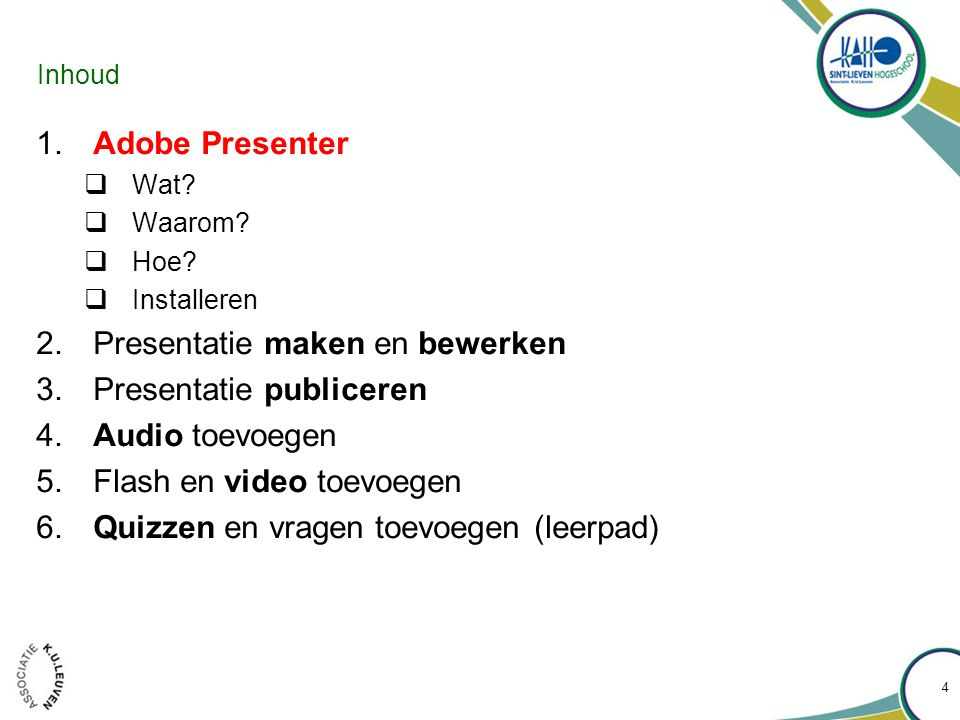 Adobe Presenter : Wat? 5