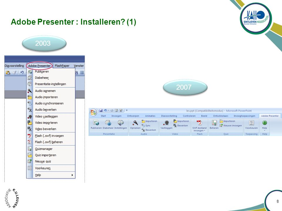 Adobe Presenter : Installeren? (2) 9
