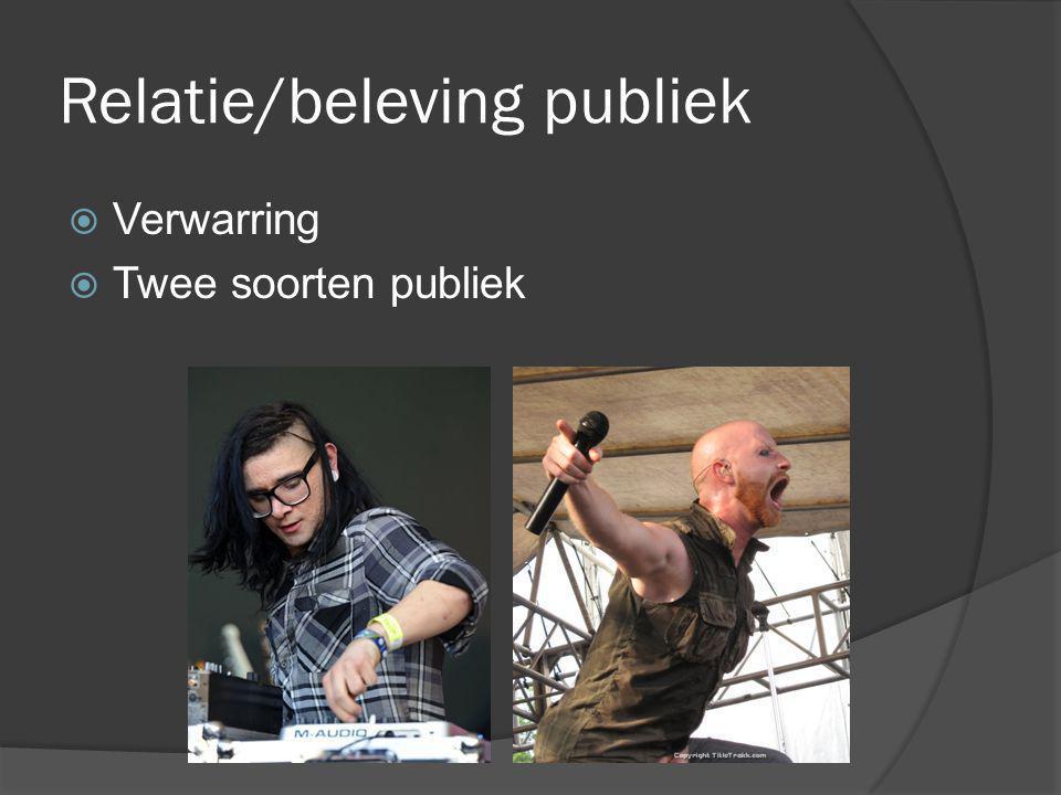 Relatie/beleving publiek  Verwarring  Twee soorten publiek
