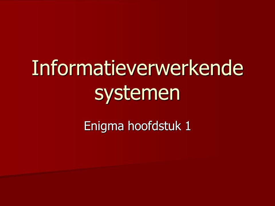 Informatieverwerkende systemen Enigma hoofdstuk 1
