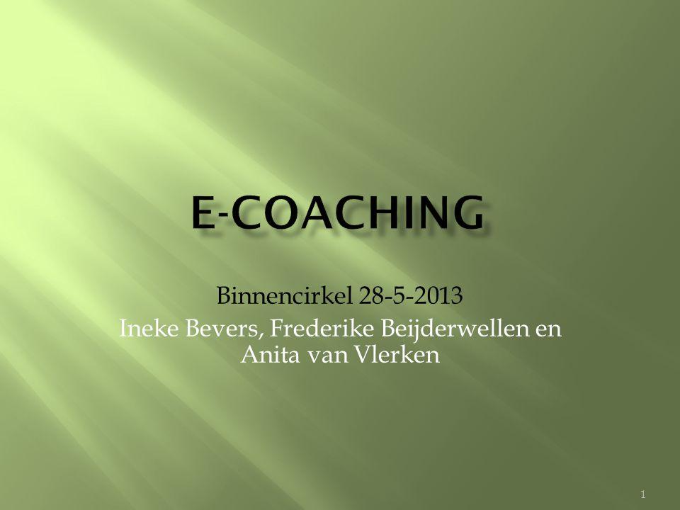 -kijk of e-coaching bij je past (affiniteit met taal) -integreer e-coaching binnen je dienstverlening -grote tijdsinvestering in het begin -kies bewust voor bepaalde typen e-coaching -oefen met andere coaches -investeer in scholing -investeer in overtuigen opdrachtgevers -time-management: geen 7 dagen per week 24 uur.