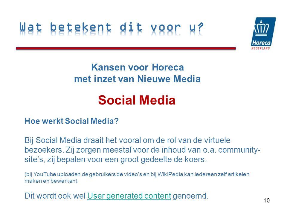 Social Media 10 Hoe werkt Social Media.