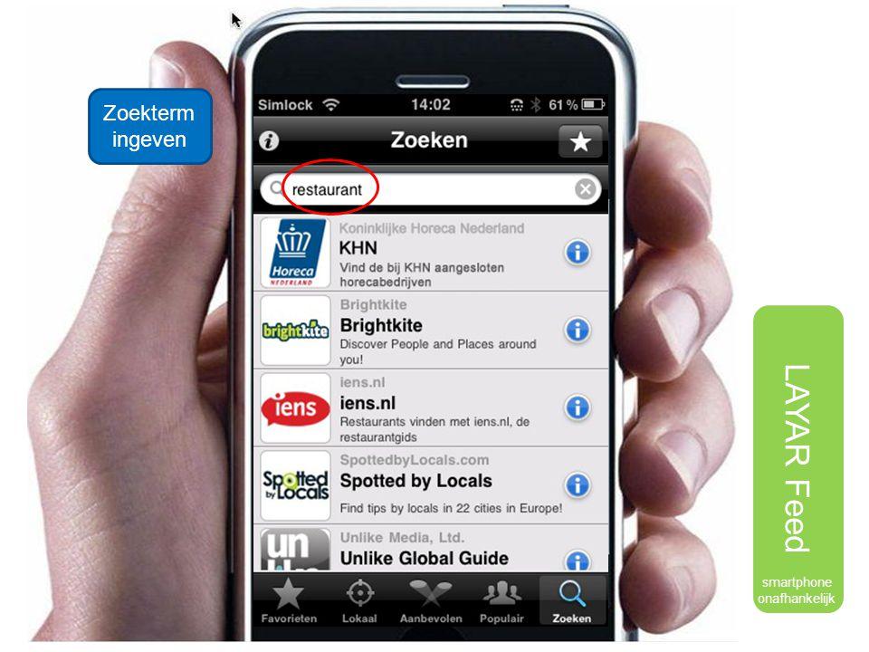 Zoekterm ingeven smartphone onafhankelijk