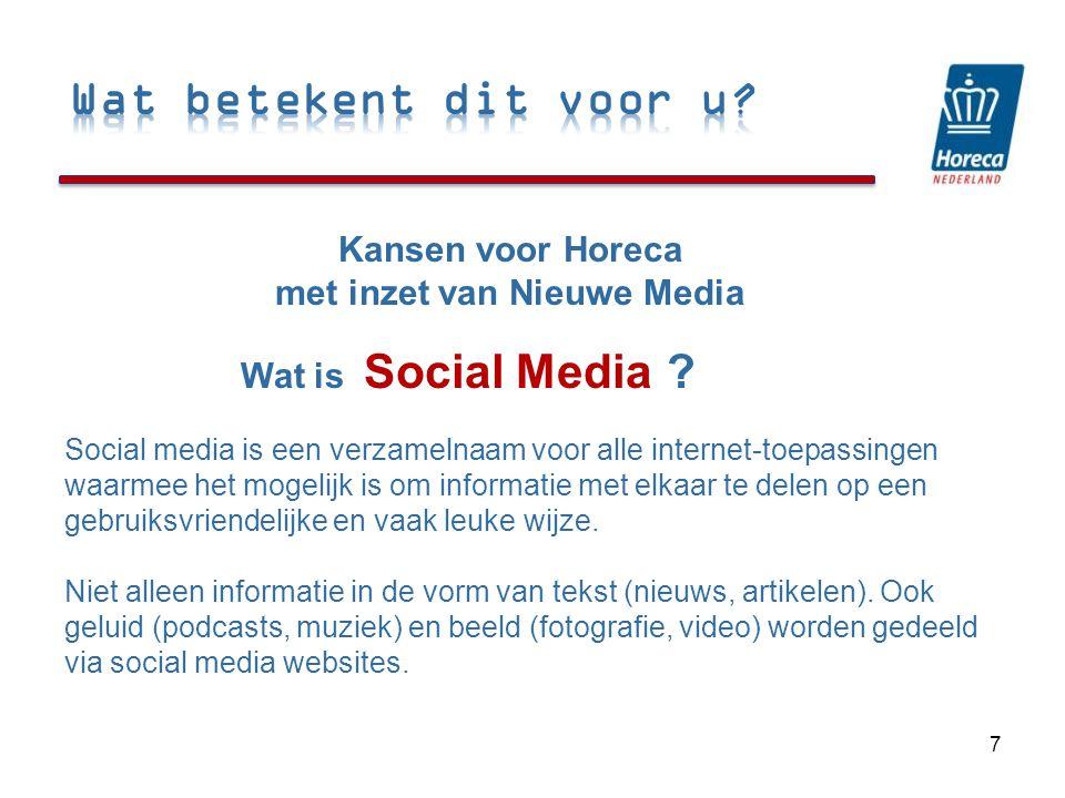 Social Media 7 Kansen voor Horeca met inzet van Nieuwe Media Wat is .