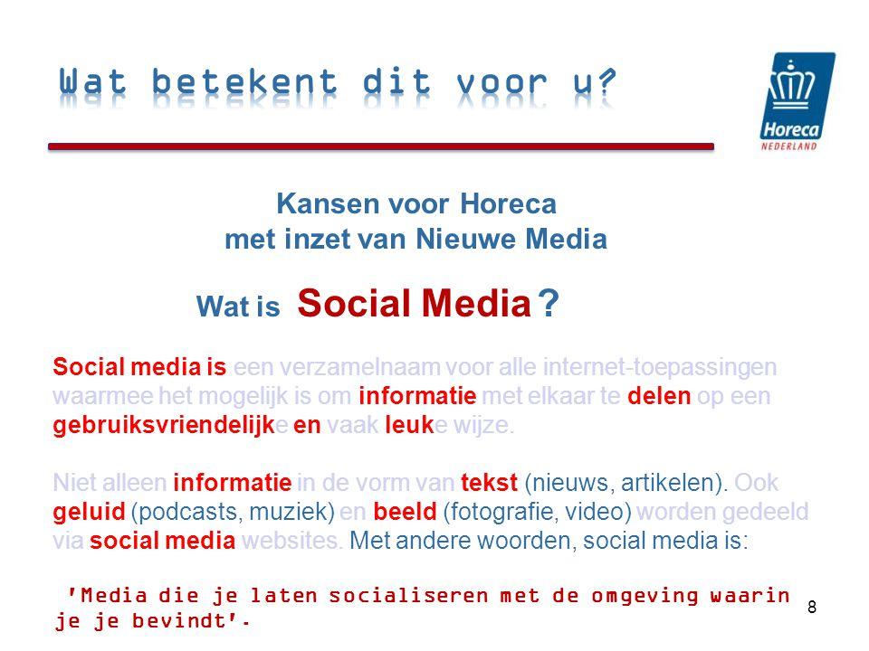 Social Media 8 Kansen voor Horeca met inzet van Nieuwe Media Wat is .
