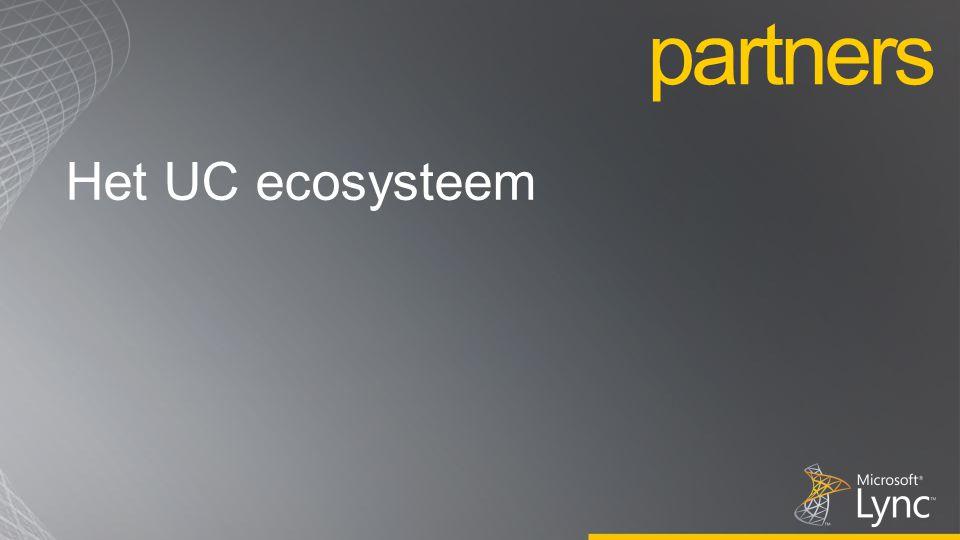 Het UC ecosysteem partners