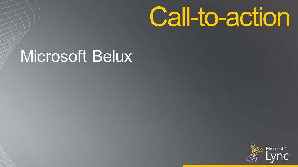 Microsoft Belux Call-to-action