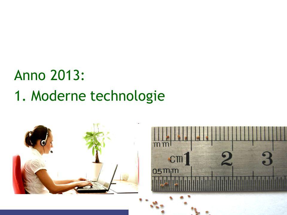 Anno 2013: 1. Moderne technologie