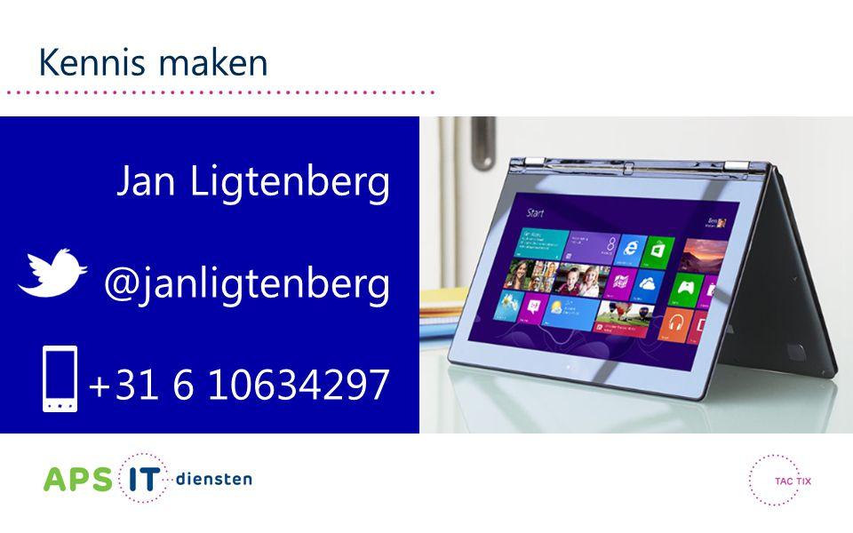 Kennis maken Jan Ligtenberg @janligtenberg +31 6 10634297