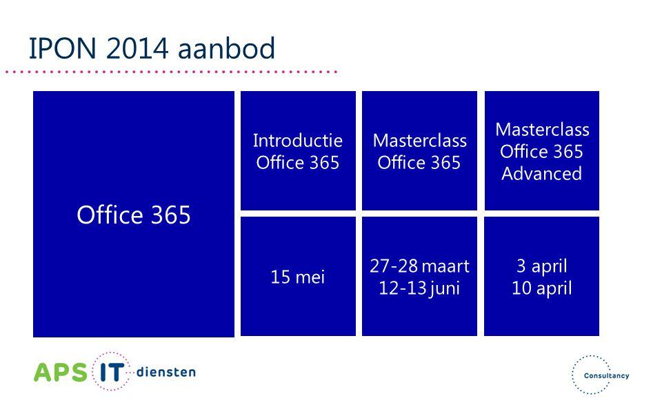 IPON 2014 aanbod