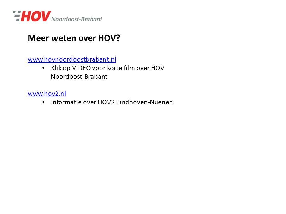 Meer weten over HOV.