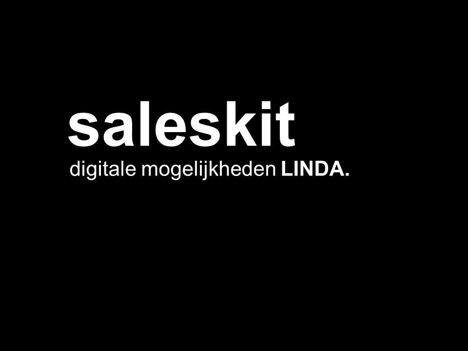 digitale mogelijkheden LINDA. saleskit
