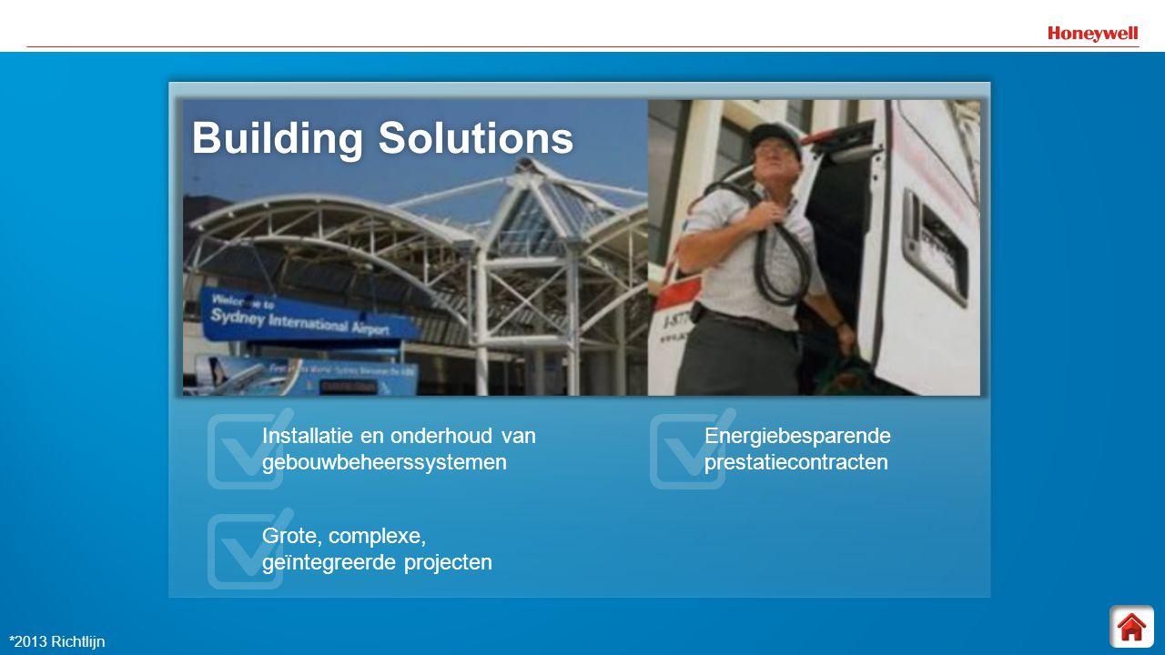 11 Building Solutions Building SolutionsBuilding Solutions Installatie en onderhoud van gebouwbeheerssystemen Grote, complexe, geïntegreerde projecten