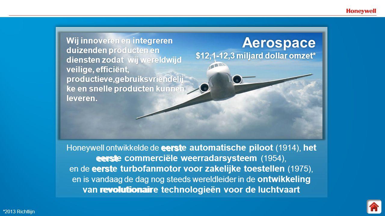 5 Honeywell ontwikkelde de eerste automatische piloot (1914), het eerste commerciële weerradarsysteem (1954), en de eerste turbofanmotor voor zakelijk