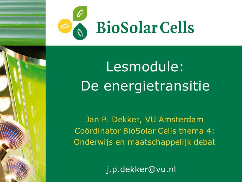 Het BioSolar Cells project (2010 – 2016) 1: kunstmatig blad 2: algen 3: planten4: onderwijs en debat