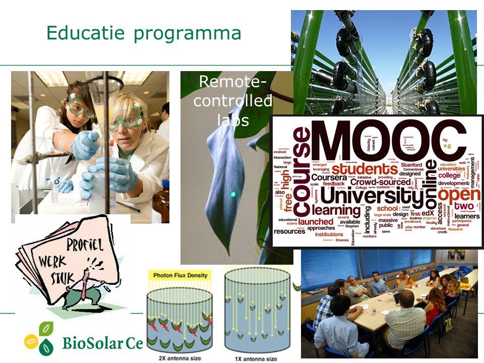 Educatie programma Remote- controlled labs