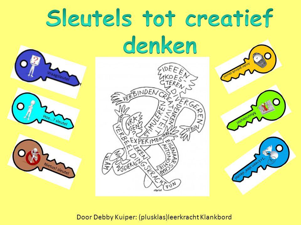 http://www.onderwijsmaakjesamen.nl/gratis-downloads-2/gratis- ideeenboek-creatieve-vaardigheden/ http://vindingrijk.wordpress.com/ http://www.leraar24.nl/video/3195 http://www.youtube.com/watch?v=zDZFcDGpL4U http://www.wsnsveghel.nl/mindportaal/leerkrachten/Paginas/Denk sleutels.aspx www.lesmateriaalvoorhoogbegaafden