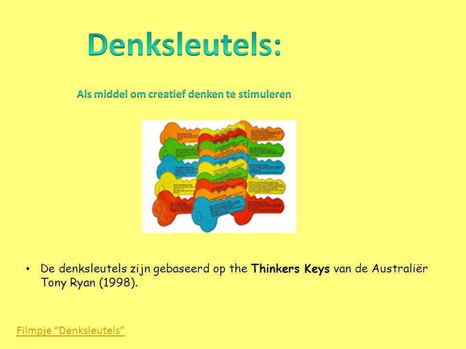 "Filmpje ""Denksleutels"" • De denksleutels zijn gebaseerd op the Thinkers Keys van de Australiër Tony Ryan (1998)."