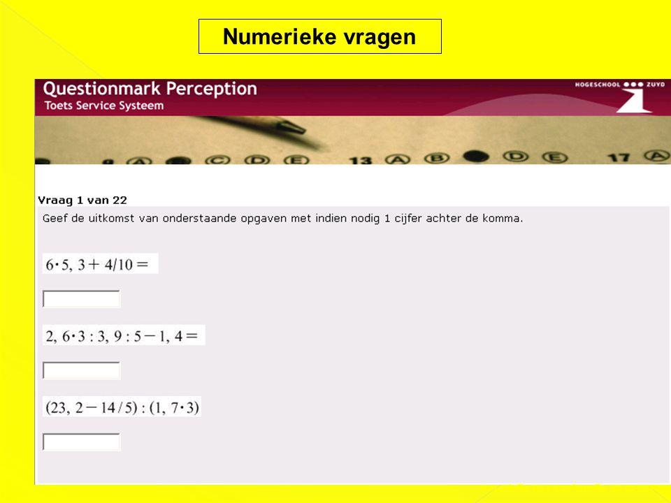 Numerieke vragen Presentatie DAS-Conferentie 03-02-2011