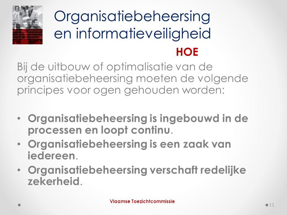 Bij de uitbouw of optimalisatie van de organisatiebeheersing moeten de volgende principes voor ogen gehouden worden: • Organisatiebeheersing is ingebouwd in de processen en loopt continu.