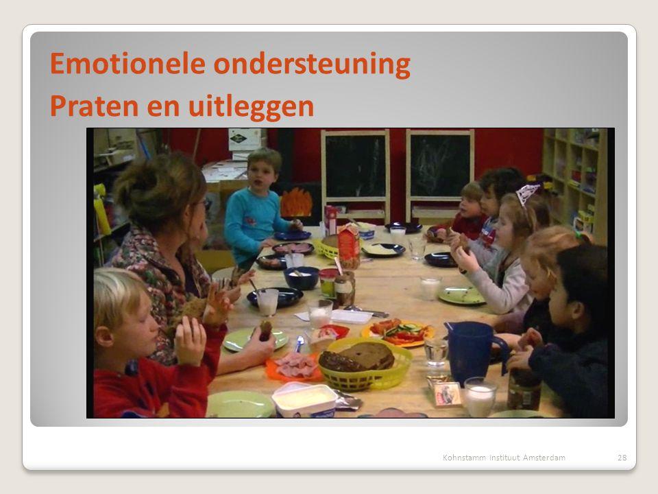 Kohnstamm Instituut Amsterdam28 Emotionele ondersteuning Praten en uitleggen