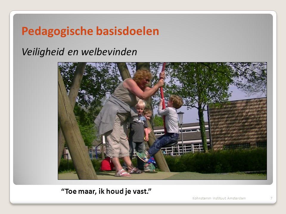 """Presentatie, 1 oktober 2012 Marianne Boogaard, Maartje van Daalen Pedagogische basisdoelen Veiligheid en welbevinden 7Kohnstamm Instituut Amsterdam """"T"""
