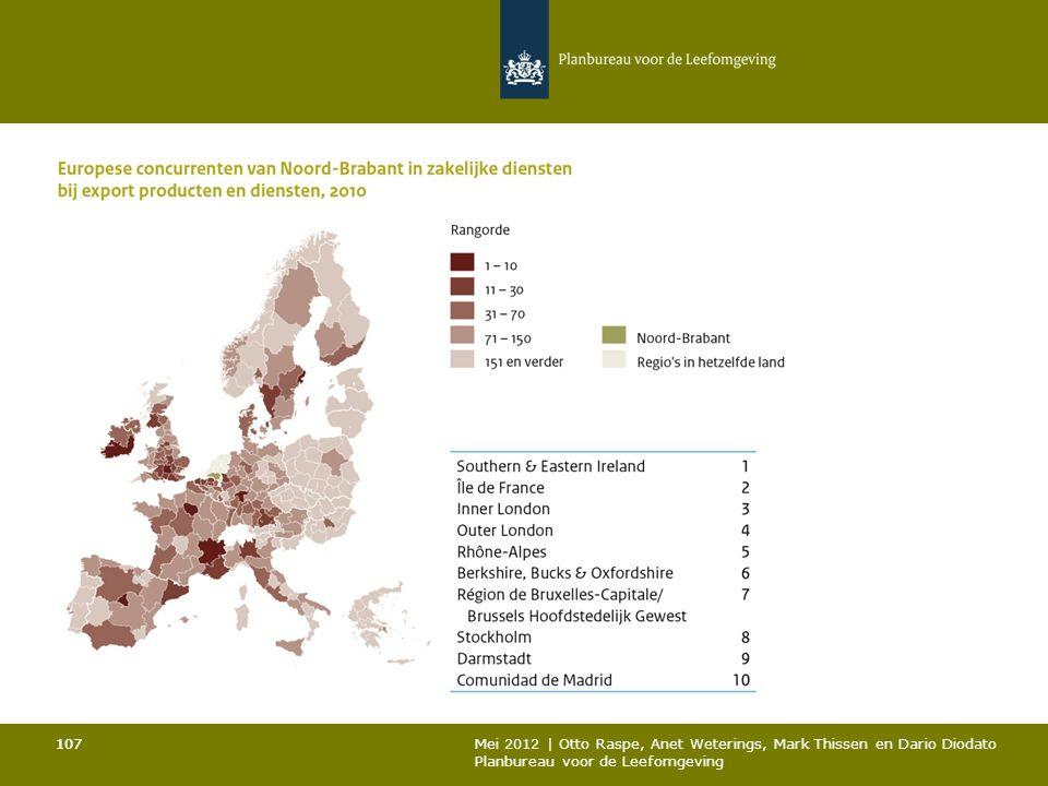 107 Mei 2012 | Otto Raspe, Anet Weterings, Mark Thissen en Dario Diodato Planbureau voor de Leefomgeving 107