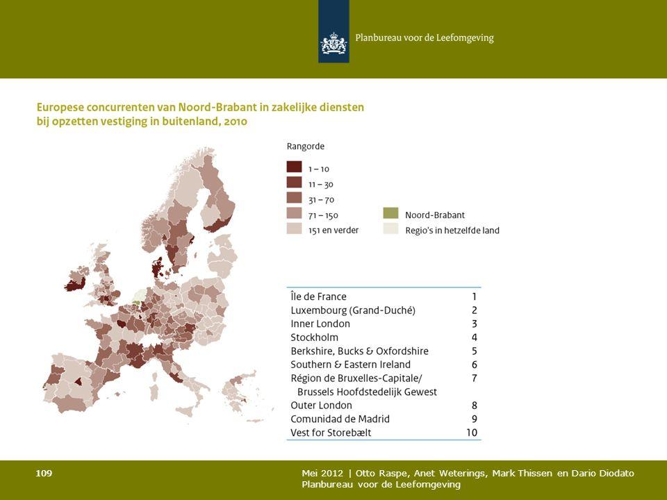 109 Mei 2012 | Otto Raspe, Anet Weterings, Mark Thissen en Dario Diodato Planbureau voor de Leefomgeving 109