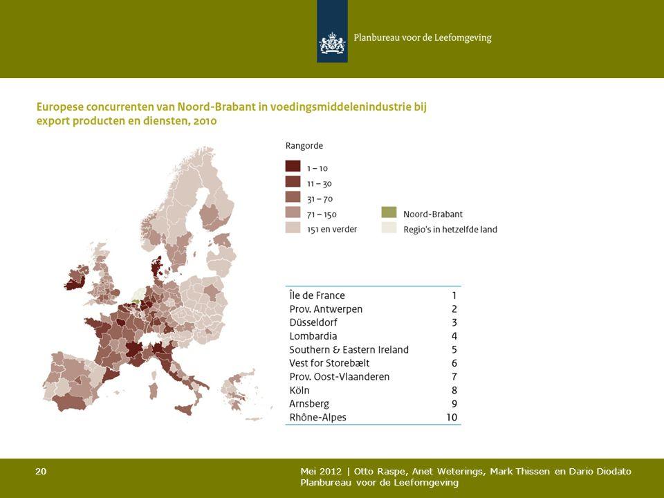 20 Mei 2012 | Otto Raspe, Anet Weterings, Mark Thissen en Dario Diodato Planbureau voor de Leefomgeving 20