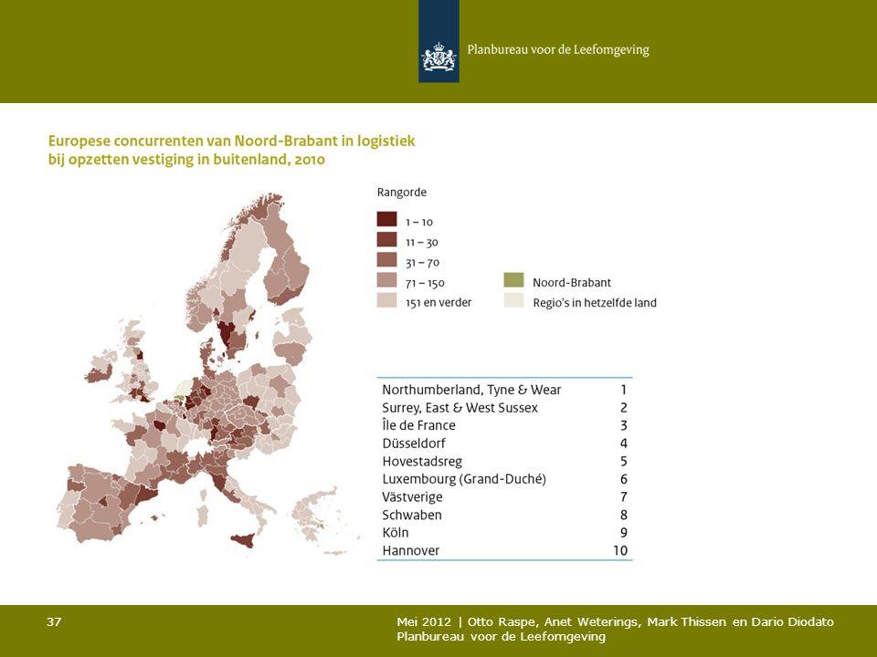 37 Mei 2012 | Otto Raspe, Anet Weterings, Mark Thissen en Dario Diodato Planbureau voor de Leefomgeving 37
