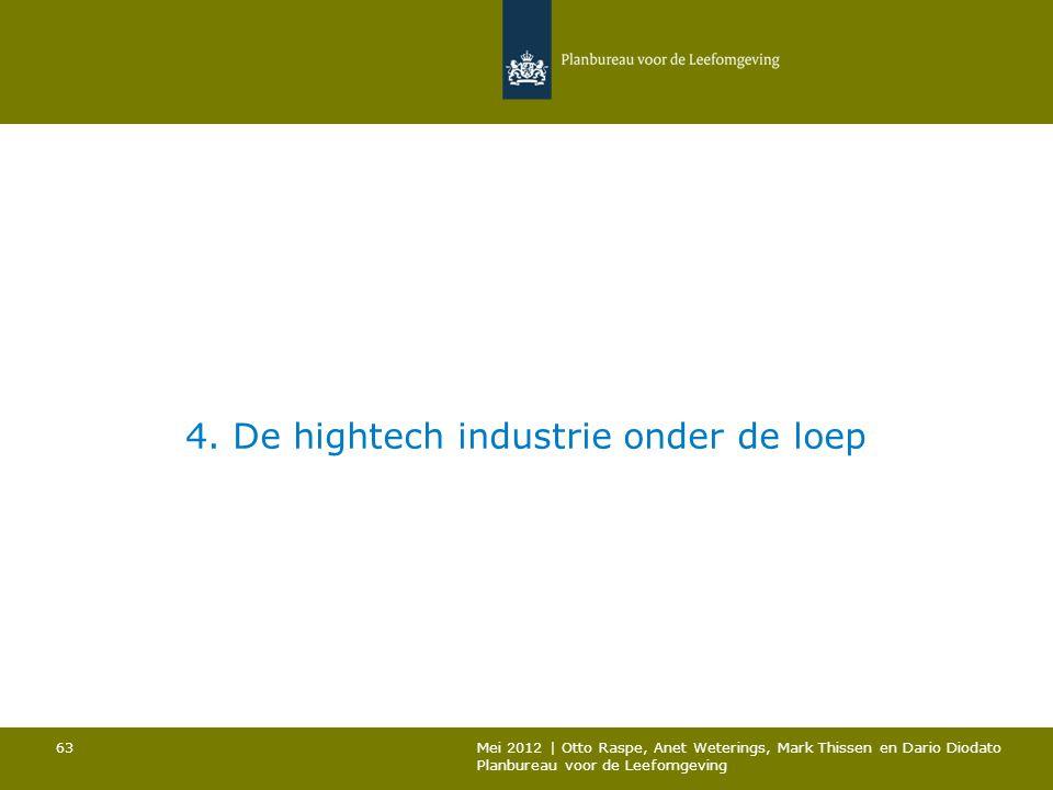 4. De hightech industrie onder de loep Mei 2012 | Otto Raspe, Anet Weterings, Mark Thissen en Dario Diodato Planbureau voor de Leefomgeving 63