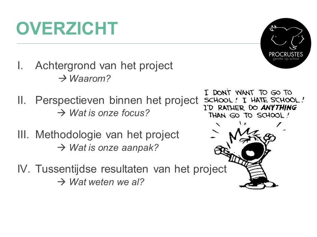 I.Achtergrond van het project  Waarom? II.Perspectieven binnen het project  Wat is onze focus? III.Methodologie van het project  Wat is onze aanpak