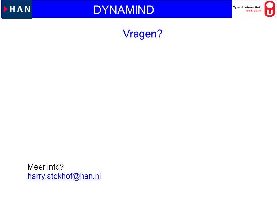 Vragen? Meer info? harry.stokhof@han.nl DYNAMIND