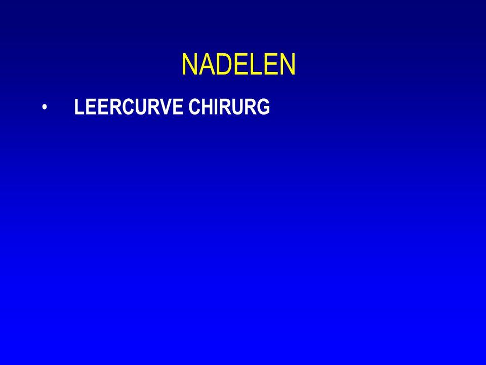 NADELEN • LEERCURVE CHIRURG