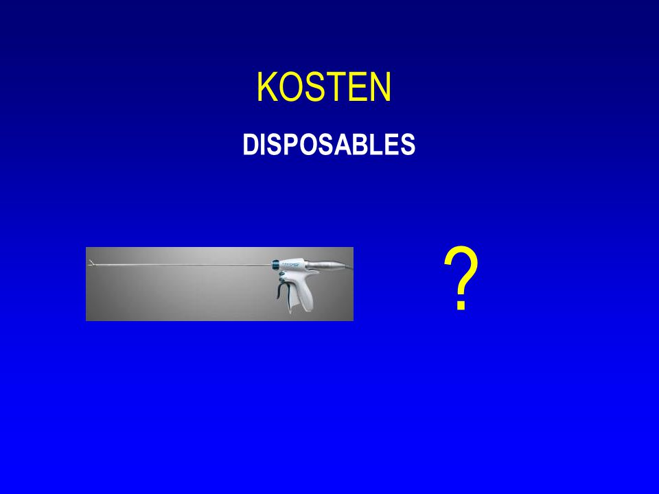 KOSTEN DISPOSABLES ?