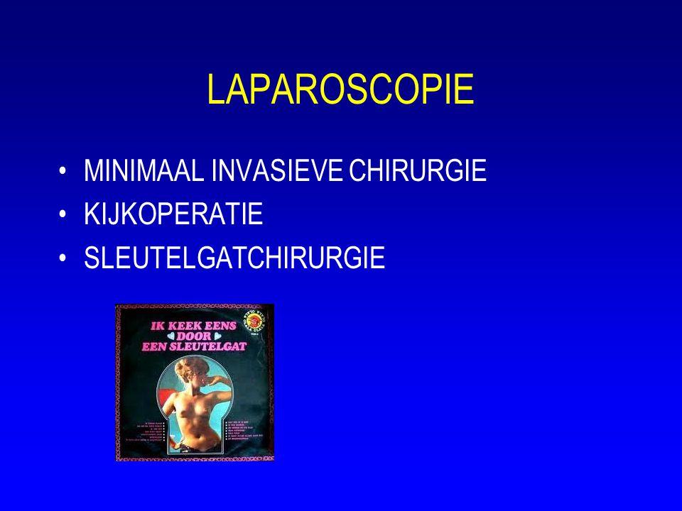 LAPAROSCOPIE •MINIMAAL INVASIEVE CHIRURGIE •KIJKOPERATIE •SLEUTELGATCHIRURGIE